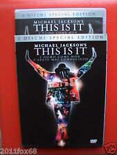michael jackson's this is it 2 DVD special edition kenny ortega dvd 2010 usato v