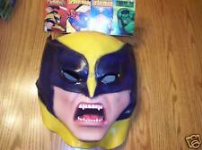Wolverine X-Men Adult Vinyl Full Mask Marvel Comics NWT