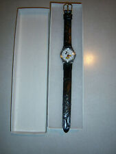Neat Collector'S Vtg Silver Tone Universal Lorus Mickey Mouse Watch