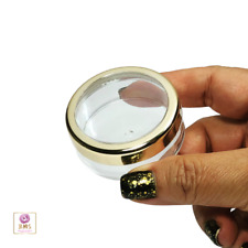 Cosmetic Jars Empty Makeup Containers Gold Trim Acrylic Lid 20 Gram 20 Pcs #3022