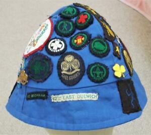 Vintage Girl Guides Hat with Badges and Patches 1970s