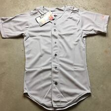 90s VTG NWT RAWLINGS BASEBALL Button Front S BLANK Jersey MADE USA T Shirt Plain