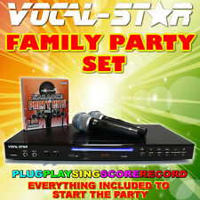 Vocal-Star VS-600 CDG DVD Karaoke Machine Player 2 Microphones 150 Top Songs XDE
