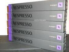 NESPRESSO 50 CAPSULES  5 SLEEVES ARPEGGIO COFFEE PODS INTENSITY 9/10 FREE P&P