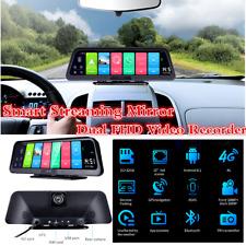 """Coche de transmisión de 10"""" Android 8.1 Wifi 4G GPS DVR Dual FHD Video Grabadora Cámara en Tablero"""