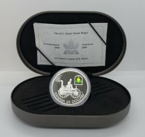 2000 $20.00 Transportation The Taylor Steam Buggy Car Hologram Silver Proof Coin