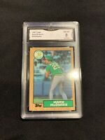 Mark McGwire Topps Rookie Card GMA 8
