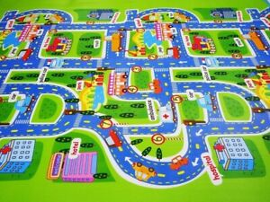Playmat For Children Boy Kids Floor Carpet City Race Car Road Play Toy Track Rug