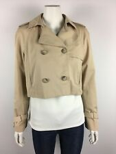 ZARA WOMAN size S or 10 beige double breasted jacket fully lined
