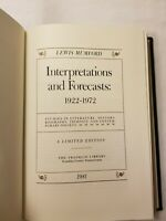 1981 ~ Franklin LIMITED EDITION ~ Interpretations and Forecasts ~ Lewis Mumford