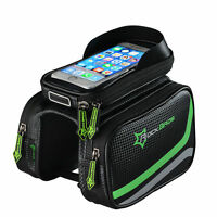 RockBros Bicycle Frame Bag Pannier Tube Bag Touchscreen Bike Phone Holder Bag