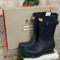 NIB - Hunter Short Navy Blue Original Woman's Rain boots Authentic New Pick Size