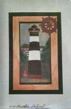Bodie Island Lighthouse Silkscreen Needlepoint Canvas