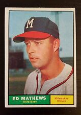 1961 Topps Baseball #120 Eddie Mathews Milwaukee Braves