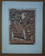 """J.L. PERRICHON (1866/1946) Bois gravé   """" SCULPTURE D' ANTOINE BOURDELLE  """""""