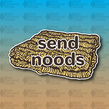 "SEND NUDES Noods Noodles Ramen Funny MEME 4"" Custom Vinyl Decal Sticker JDM"