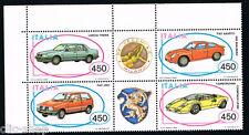 ITALIA BLOCCO DELLE AUTOMOBILISTICHE ITALIANE AUTO VEICOLI 1985 nuovo**