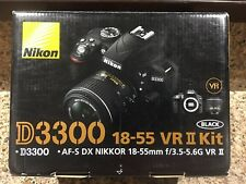 Nikon D3300 24.2MP Digital SLR Camera &18-55mm f/3.5-5.6G VR II Lens Black