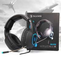 SADES SA818 Gaming Headset for PS4 Xbox One PC Stereo Sound 3.5mm Headphone Mic