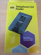 Marbig Telephone Index List Finder Teledex Grey Metal Base free tracked post