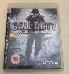 Call of Duty World at War PS3 Playstation 3 FREE UK POSTAGE