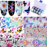 Holographic Laser Nail Art Foils Wraps Transfer Stickers Decals UV Manicure DIY