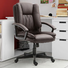 HOMCOM Height Adjustable Office Chair PU Leather Swivel Rolling Seat