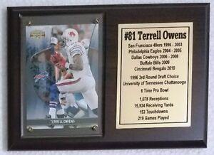 Buffalo Bills Terrell Owens Football Card Plaque