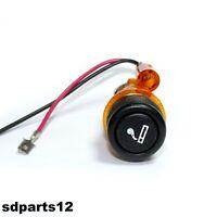 Kit Accendisigari illuminato Arancione per Alfa Fiat Audi Universale 29mm
