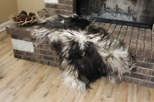 Genuine Icelandic Sheepskin Rug Throw – shade of black
