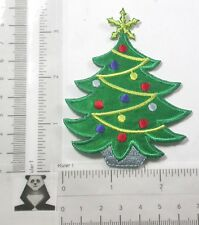 Iron On Patch Applique - Christmas Tree embroidered