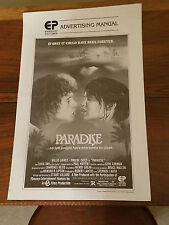 """Embassy Pictures """"Paradise"""" Movie Advertising Manual 1982"""