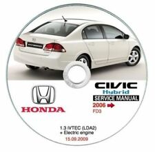 Honda Civic Hybrid (MY 2006-->) manuale officina workshop manual