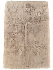 Island Lammfell Teppich Sand beige 180 x 110 cm Fellteppich mit 4 Schaffellen