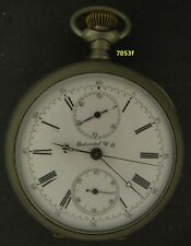 7053,  55.12  mm. Continental Watch Co. Nickel OF Chronograph  runner