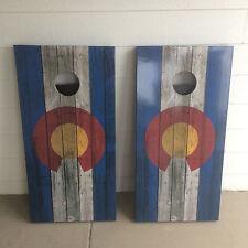 Colorado flag Corn Hole Boards - Bean Bag Toss Game