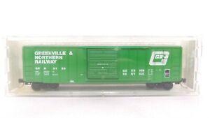 Kadee Micro Trains N GRN Greenville Northern 50' Rib Side Sngl Door Boxcar 25210