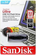 SanDisk 32 GB CZ48 Ultra Flash Thumb Drive Key Memory Stick 100MB/s 32G USB 3.0