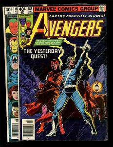 Avengers Set 2(185 186) VG Origin Scarlet Witch/Quicksilver 1st Magda 1st Chthon