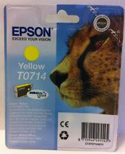 GENUINE EPSON T0714 Yellow Ink Cartridge NEW & SEALED