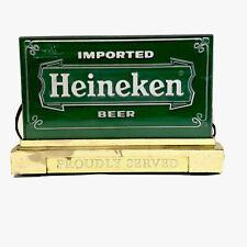 Heineken Beer Sign Light Up Vintage Display Bar Man Caverare Tested Working