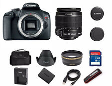 Canon EOS Rebel T7 24.1MP DSLR Camera with EF-S 18-55 IS II Lens (2 LENSES)