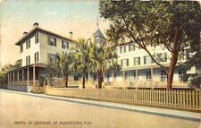 HOTEL ST. GEORGE ST AUGUSTINE FLORIDA POSTCARD 1921