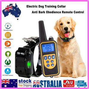 Lot Anti Bark Electric Shock Dog Pet Training E-Collar Obedience Remote Control