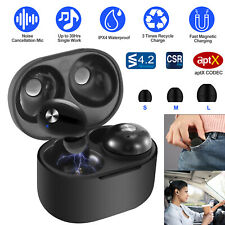 TWS Earphones Wireless Earbuds LED Stereo Noise Cancelling Headphones w/Mic