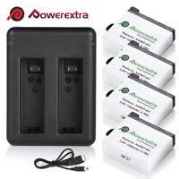 1500mAh AHDBT-401 Battery +Dual USB Charger for GoPro Hero 4 Black/Silver Camera