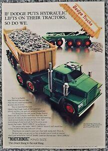 VINTAGE 1969 MATCHBOX K-16 DODGE TRUCKS TWIN TIPPER ADVERTISEMENT