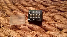 Lot de 3 commutateurs PCB x Mini Switch 4 Way DIP DIL Switch DLS-4