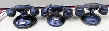 THREE VINTAGE  ART DECO 1920's STROMBERG CARLSON TYPE 1177  DESK PHONE TELEPHONE