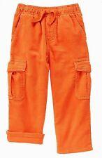 NEW Gymboree Baby Toddler Boys 6-12 mos Orange Corduroy Jersey Lined Pants